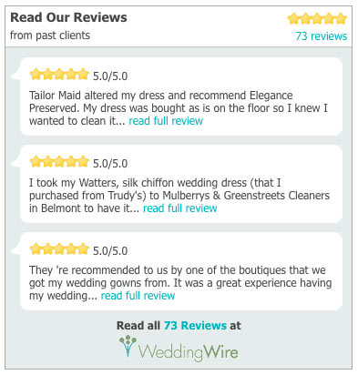wedding dress preservation 5 star review