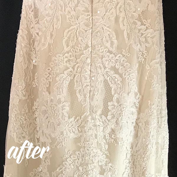 Wedding Dress Wine Stain Removal after