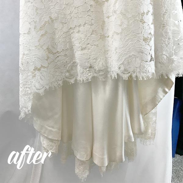 Wedding Dress Blanching Process after