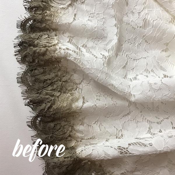 Wedding Dress Blanching Process Before