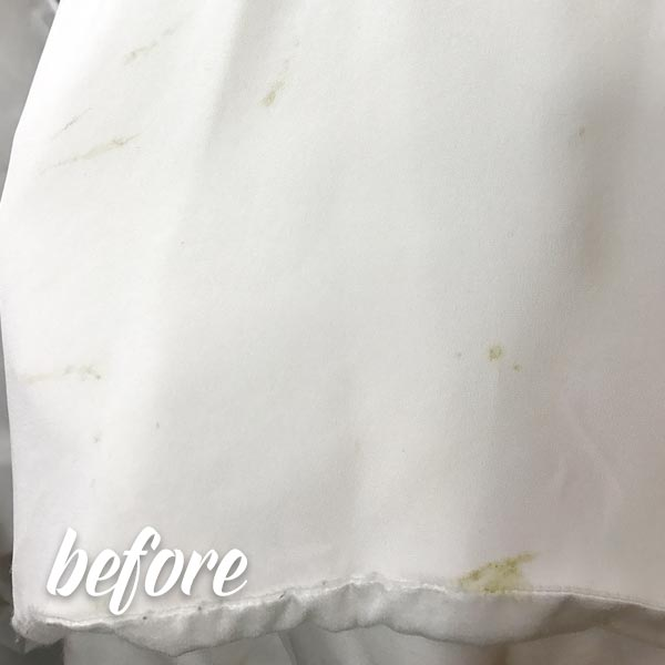 Bird Poop on wedding dress