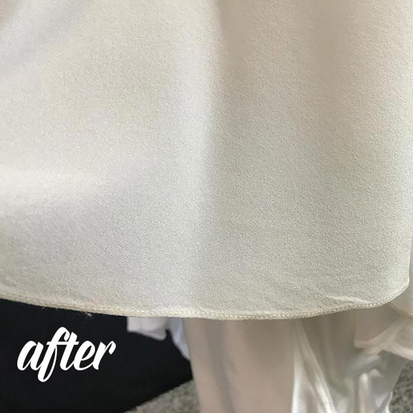 Dirty Damage Wedding Dress Hem