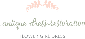 Antique Flower Girl Dress Cleaning and Restoration