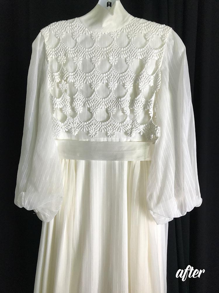 Restoration Of An Antique Wedding Dress By Elegance Preserved